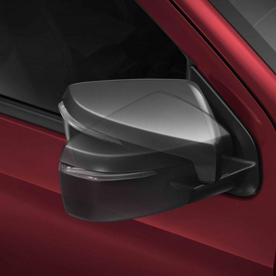 Outside rear view folding mirror